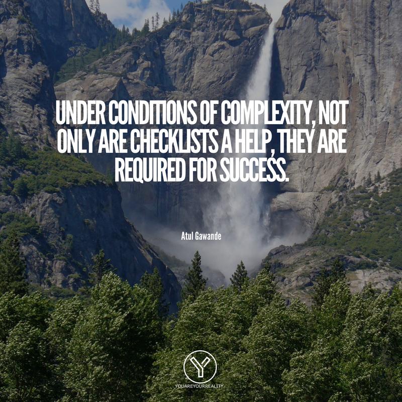 Unter komplexen Bedingungen sind Checklisten nicht nur eine Hilfe, sondern auch für den Erfolg erforderlich.