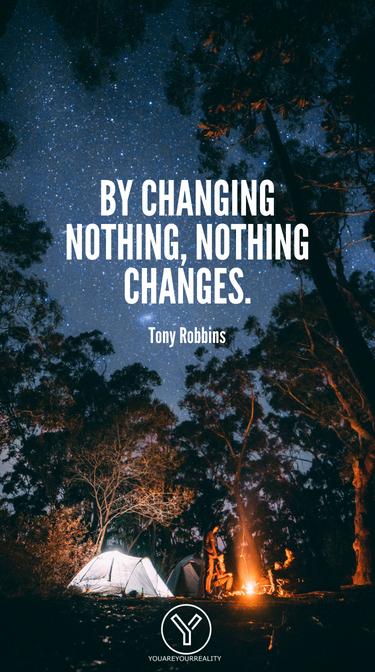 Indem man nichts ändert, ändert sich nichts.