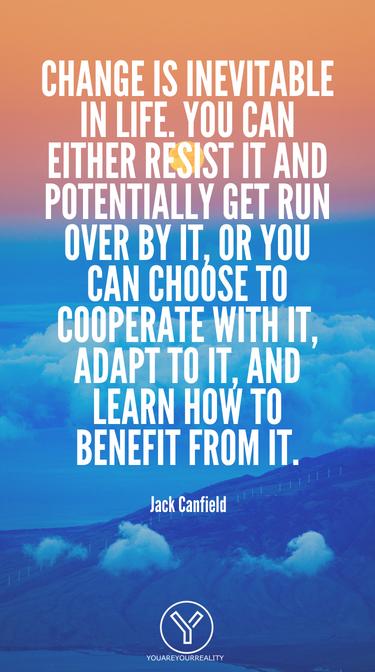 Veränderung ist im Leben unvermeidlich.  Sie können sich entweder dagegen wehren und möglicherweise von ihm überfahren werden, oder Sie können sich dafür entscheiden, mit ihm zusammenzuarbeiten, sich daran anzupassen und zu lernen, wie Sie davon profitieren können.