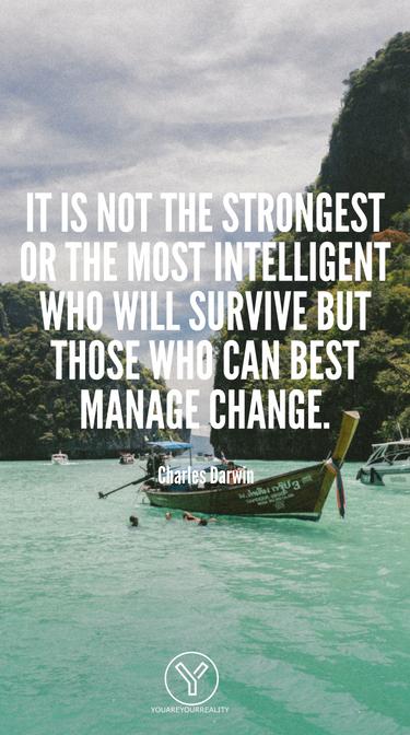 Es sind nicht die Stärksten oder Intelligentesten, die überleben werden, sondern diejenigen, die Veränderungen am besten bewältigen können.