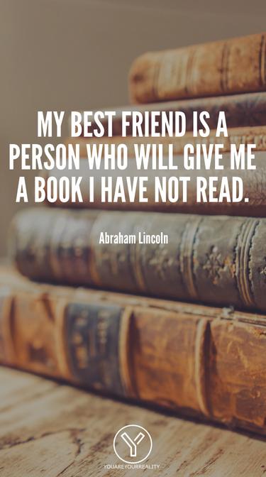 Mein bester Freund ist eine Person, die mir ein Buch gibt, das ich nicht gelesen habe.