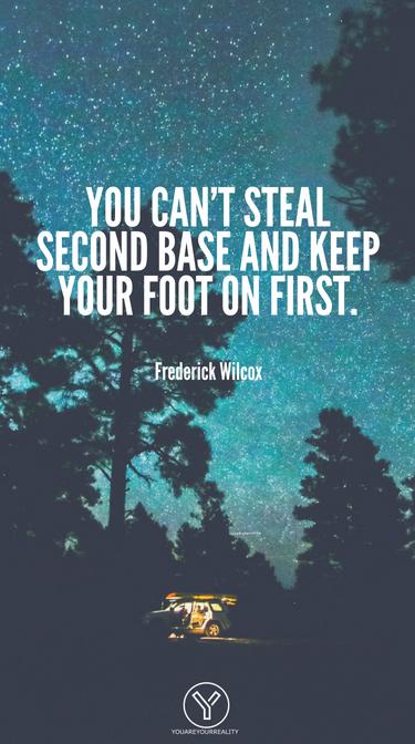 Sie können nicht die zweite Basis stehlen und Ihren Fuß zuerst halten.
